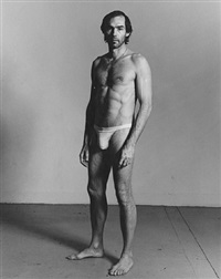 self-portrait standing by peter hujar