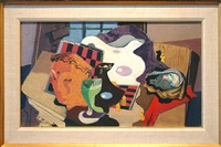 still life with abalone by stanton macdonald-wright