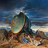 new moon for an old landscape by samuel bak