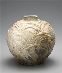 natural ash glaze yohen jar by ken matsuzaki