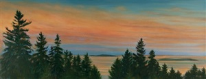 september sunset, small point, maine by jim schantz