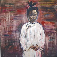 pre-dawn by hung liu