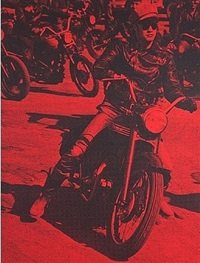 brando on bike (red) by russell young