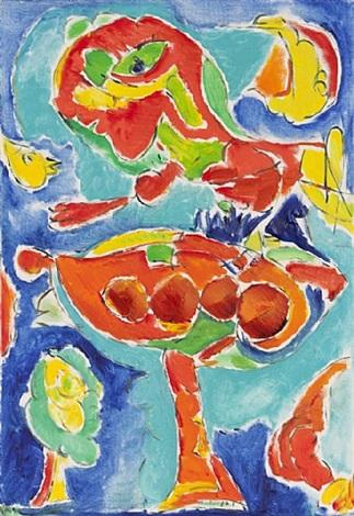 skål og frugt (schale und früchte) by carl-henning pedersen