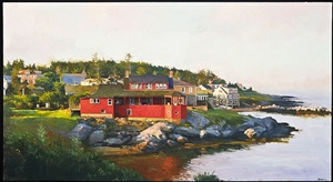 morning light, monhegan by peter poskas iii