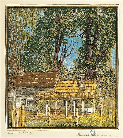 summer breezes by gustave baumann