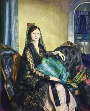 portrait of elizabeth alexander by george wesley bellows