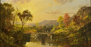 "study for ""ramapo valley"" by jasper francis cropsey"