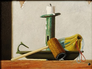 pipe, tray and candle by john frederick peto