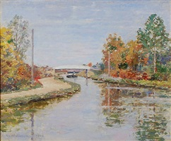the white bridge by theodore robinson