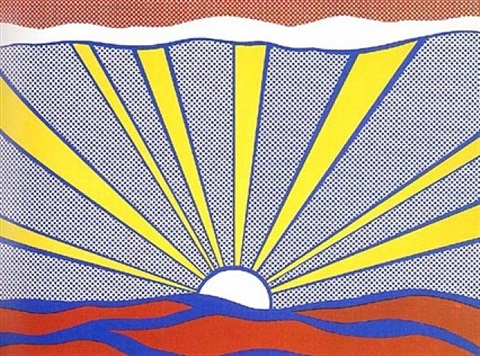 sunrise by roy lichtenstein