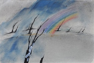 desolate rainbow by john tunnard