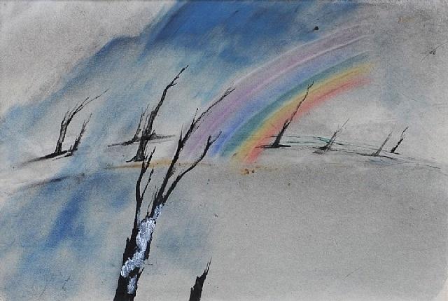 desolate rainbow by john tunnard