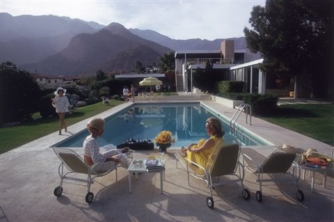 poolside gossip lita baron nelda linsk and helen dzo dzo palm springs by slim aarons