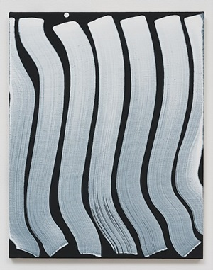 untitled (strokes, white on black) by michael dopp