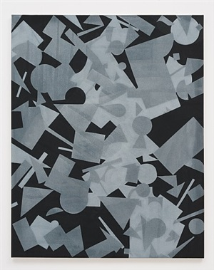 untitled (black shape painting 1) by michael dopp
