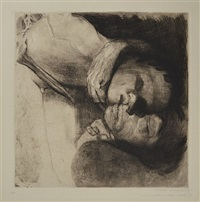 death, woman and child by käthe kollwitz
