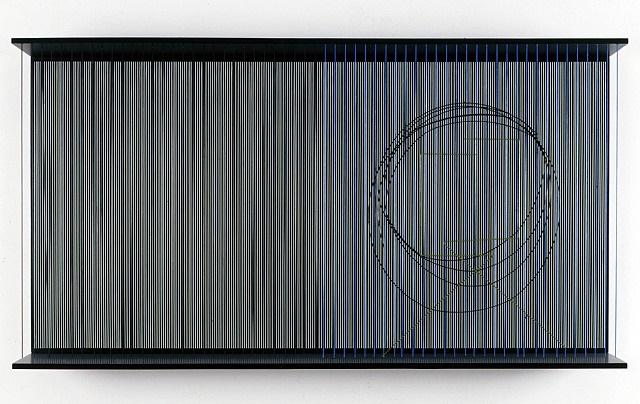 cercle noir sur vibration by jesús rafael soto