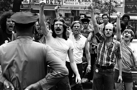 gay rights demonstration at city hall, new york, 1970 by grey villet