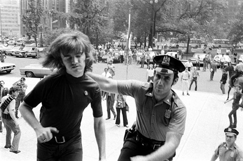 gay activist alliance president jim owles is arrested, gay rights demonstration at city hall, new york, 1970 by grey villet
