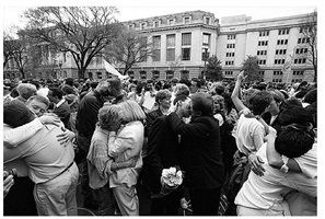 """kiss-in"", equal rights march, washington, dc, 1993 by ken regan"