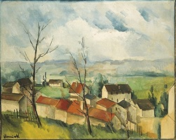 landscape at osny by maurice de vlaminck