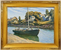 inlet at ogunquit, maine by corwin knapp linson