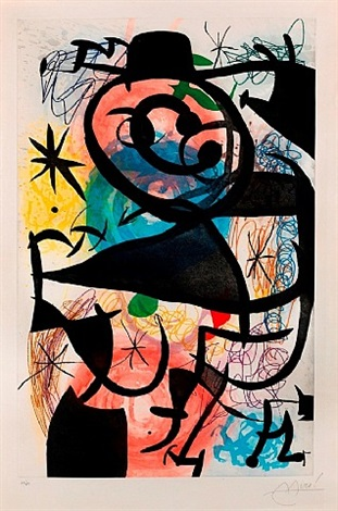 le pitre rose by joan miró