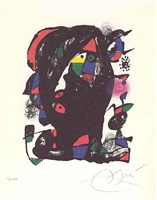 untitled from joan miro lithographs iv by joan miró