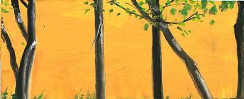 gold and black by alex katz