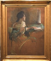 seated woman (sketch) by john white alexander