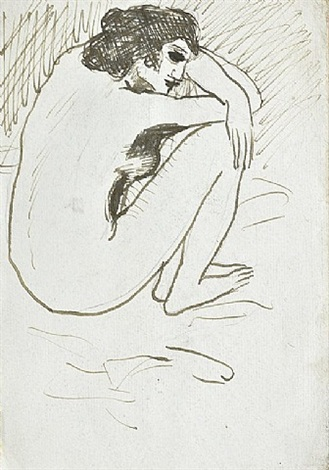 nue accroupie by pablo picasso