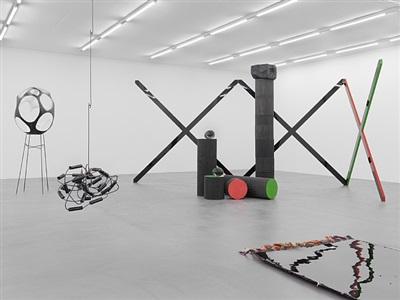 exhibition view ii by eva rothschild