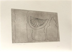 turkish sundial between two turkish forms by ben nicholson