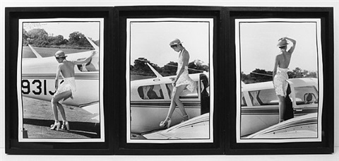 bianca descending at montauk international airport (exiles on main street) by peter beard