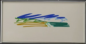 study for seascape with cumulus clouds and sky by tom wesselmann