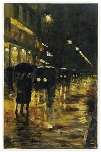 café könig bei nacht (unter den linden) by lesser ury