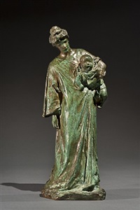 mother and child by bessie potter vonnoh