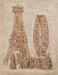 torre e ruota by massimo campigli