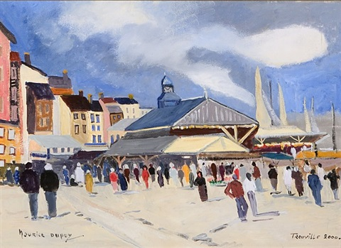 trouville, normandy by maurice dupuy