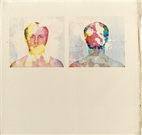 self-elimination portrait, 27 by billy apple