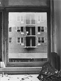 cleaning windowpane, saturday 28 april 1973, 3 parts (from the series: negative condition situations) by billy apple