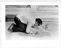 cleaning: floor tile (from the series: negative condition situations) by billy apple