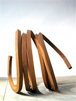 one indeterminate line by bernar venet