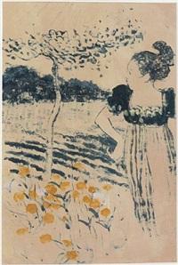 woman in garden by albert york