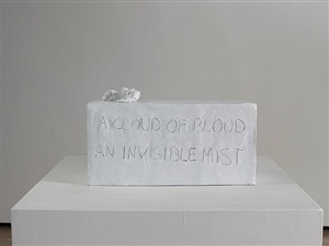 a cloud of blood invisible mist by tracey emin