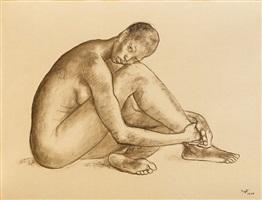 nude woman by francisco zúñiga
