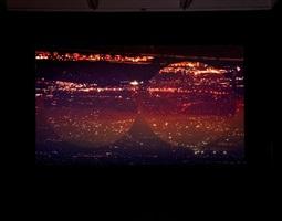 orbite rosse (red orbits), installation view 1 by grazia toderi