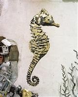 seahorse (scrap metal) by vik muniz