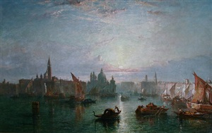 towards evening, venice by edward angelo goodall
